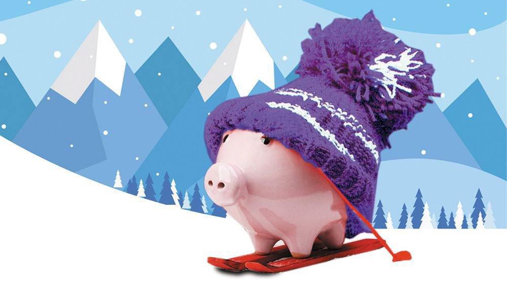 Qui va payer pour les camps de ski? Le bon petit cochon, bien sûr...