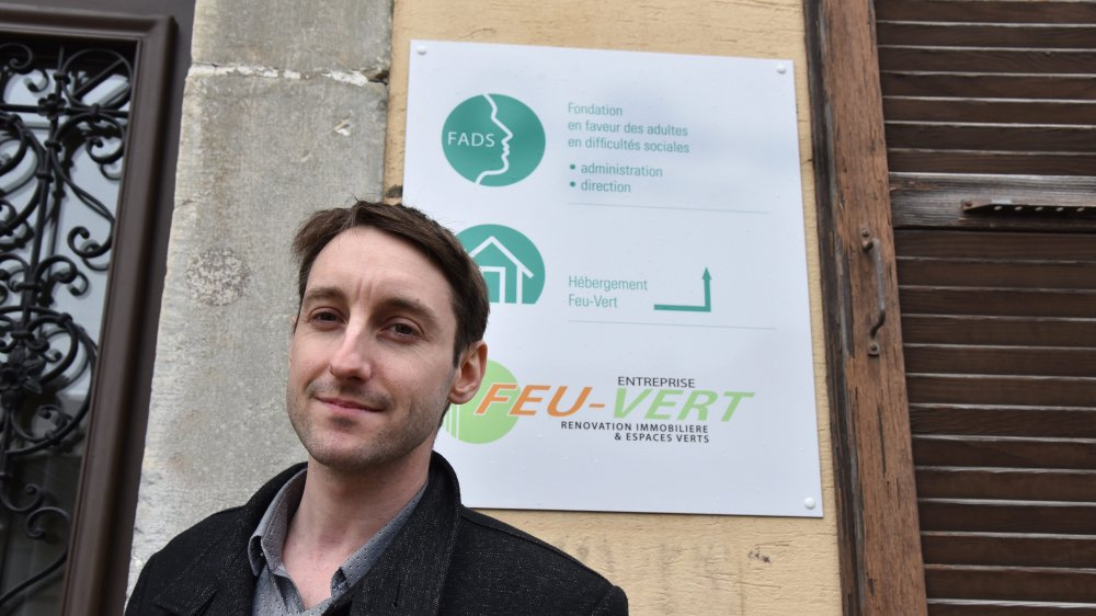 Robin Nicolet s'est retrouvé à la rue durant de longs mois, avant d'être hébergé au foyer Feu-Vert, à La Chaux-de-Fonds.