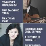 Récital Duo Violon et Piano - Bach, Grieg, Fauré