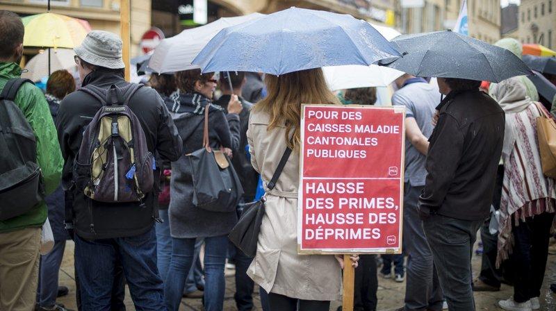 En 2016, les Neuchâtelois ont manifesté contre la hausse des primes de l'assurance maladie.