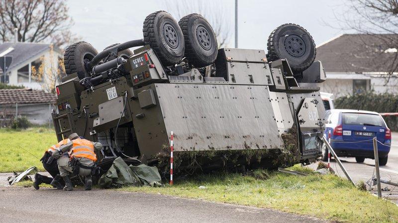 Les accidents militaires ont coûté 13,97 millions de francs en 2016.