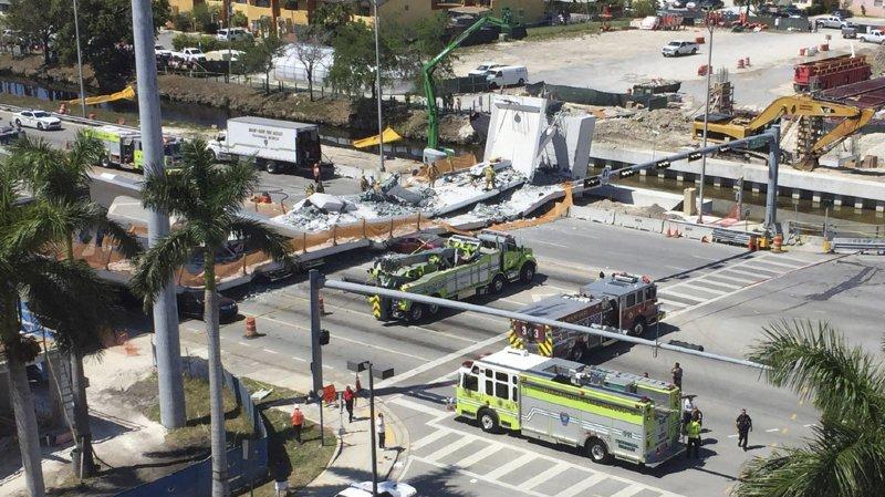 Etats-Unis: le bilan de l'effondrement d'un pont en Floride monte à 6 morts