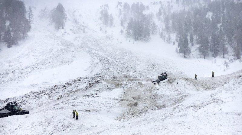 Toujours deux disparus dans l'avalanche de Riddes (VS): les recherches restent interrompues