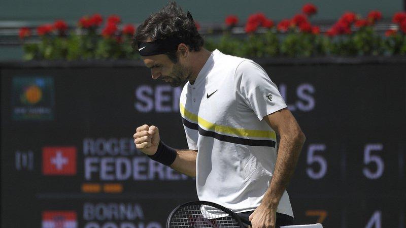 Tennis: 17e victoire de suite pour Federer qui se hisse en finale du Masters 1000 d'Indian Wells