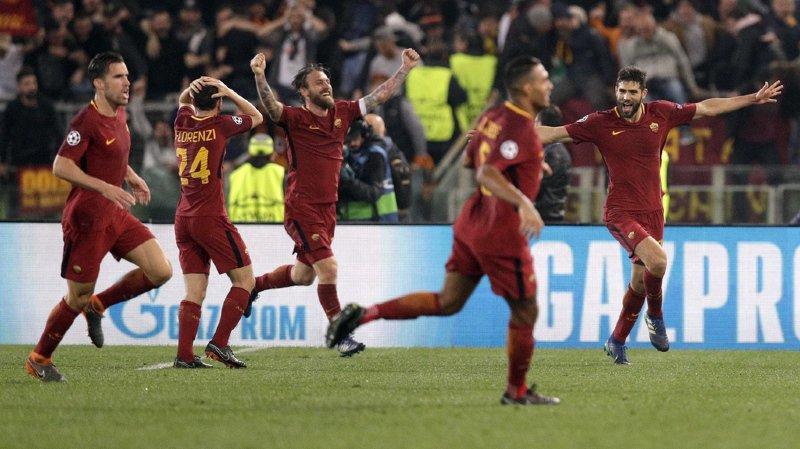 Ligue des champions : Rome crée la surprise en battant Barcelone et file en demi-finales avec Liverpool