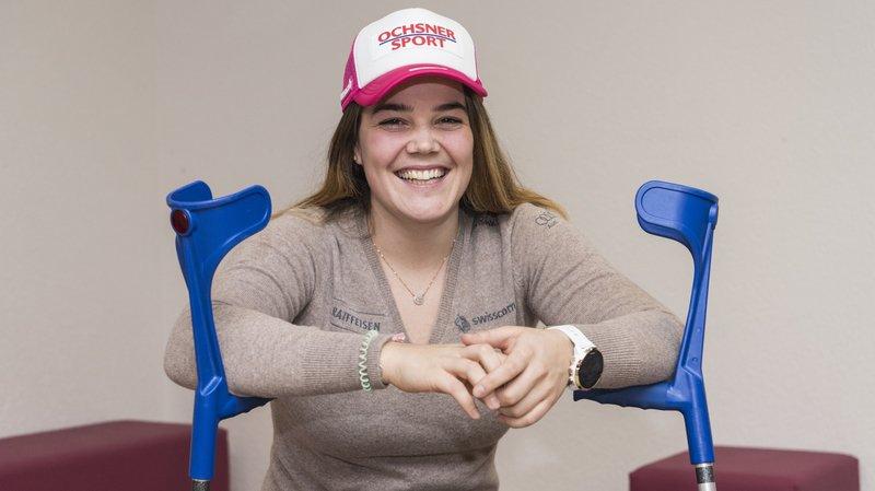 Mélanie Meillard: «Ce n'était pas facile de voir les autres filles skier aux Jeux»