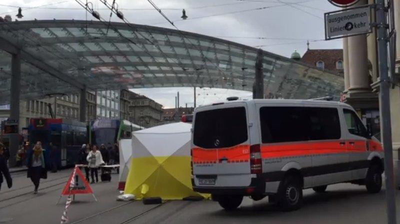 Décès d'un homme happé par un bus à Berne