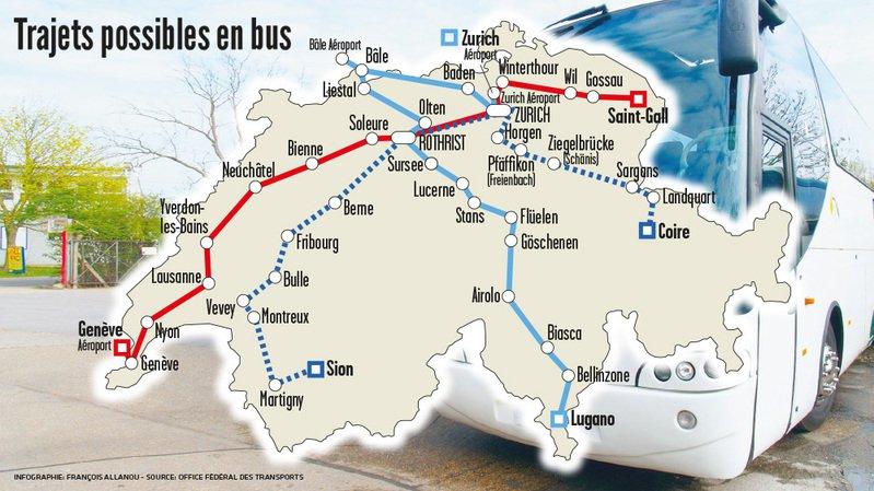 Les bus intercités vont débarquer à Neuchâtel