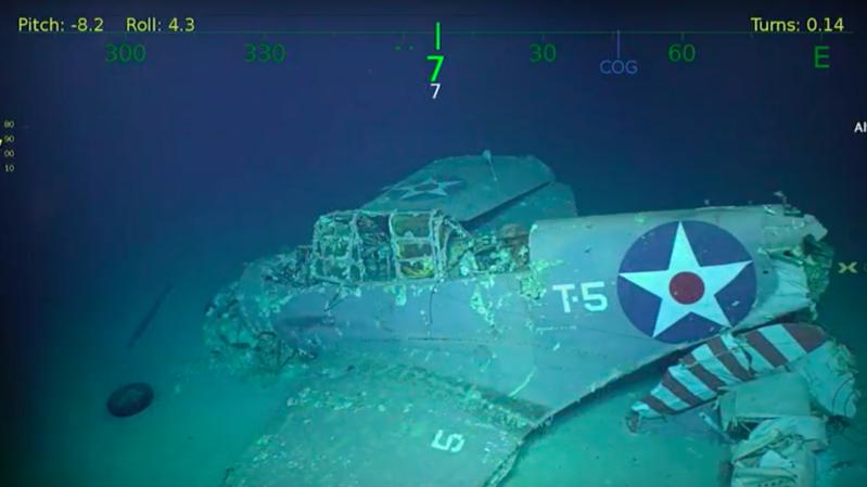 Un porte-avions américain retrouvé, 75 ans après son naufrage