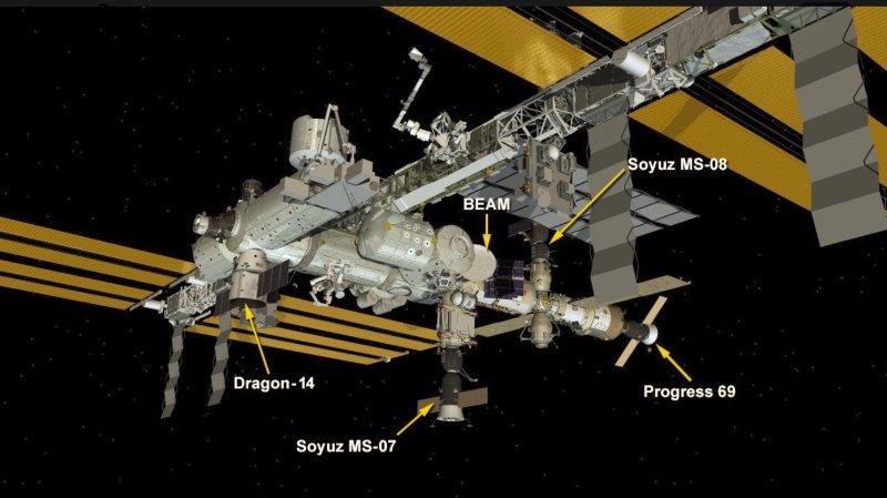 La capsule Dragon lancée par SpaceX s'est arrimée à la Station spatiale internationale