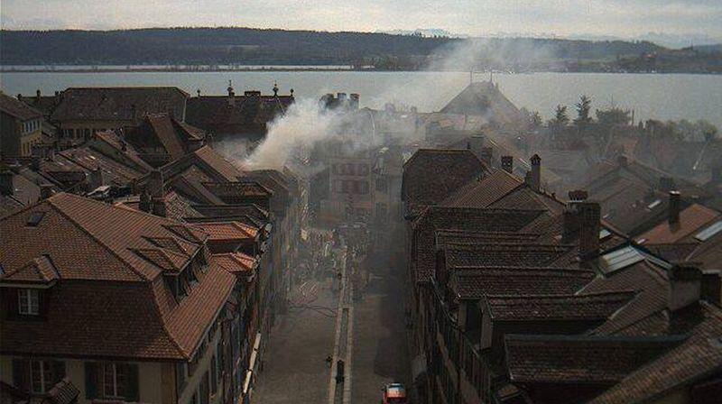 Incendie au centre de La Neuveville