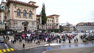 Des centaines de manifestants pour Mike à Lausanne