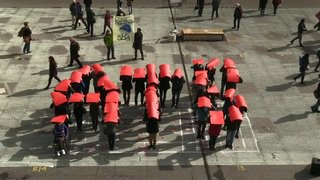 Médias: flash-mob de l'ATS sur la Place fédérale pour protester contre les licenciements