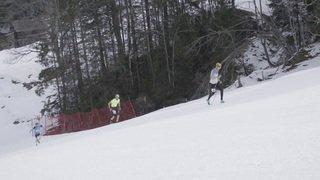 Vertical Up: ils remontent en courant la piste du Lauberhorn