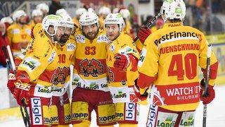 Hockey: le HC Bienne bat Davos sur sa patinoire, remporte la série 4-2 et file en demi-finale des play-off