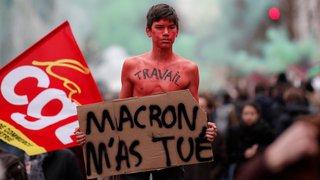 La fonction publique française dans la rue
