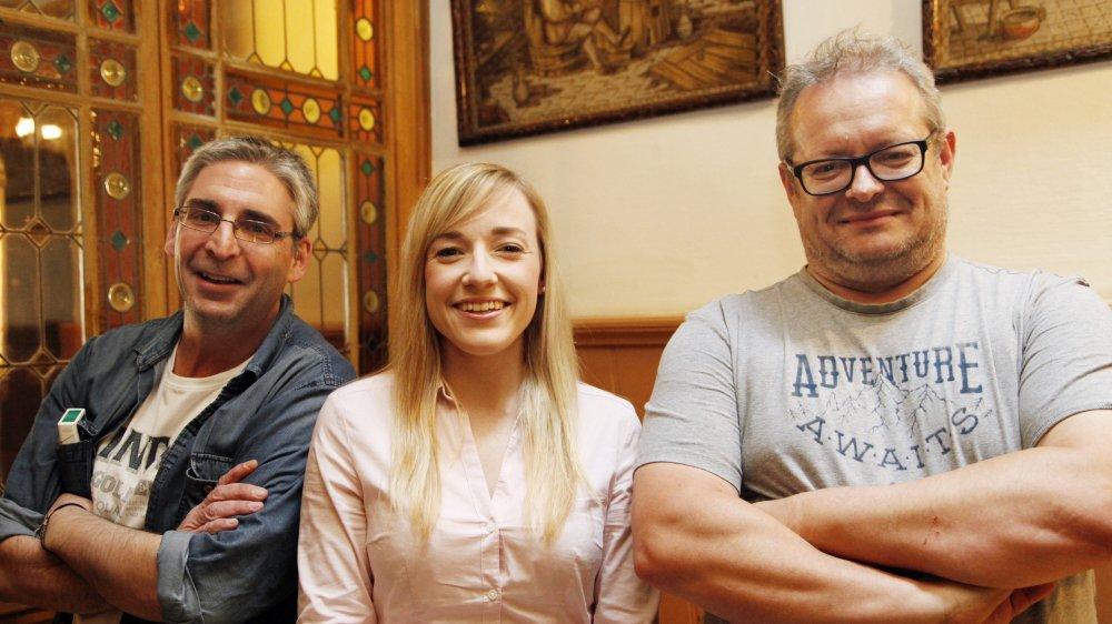 Yves Gigon, Pauline Queloz et Raoul Jaeggi ne savent pas encore s'ils pourront créer une aile dissidente du PDC Jura. Danièle Ludwig Bist