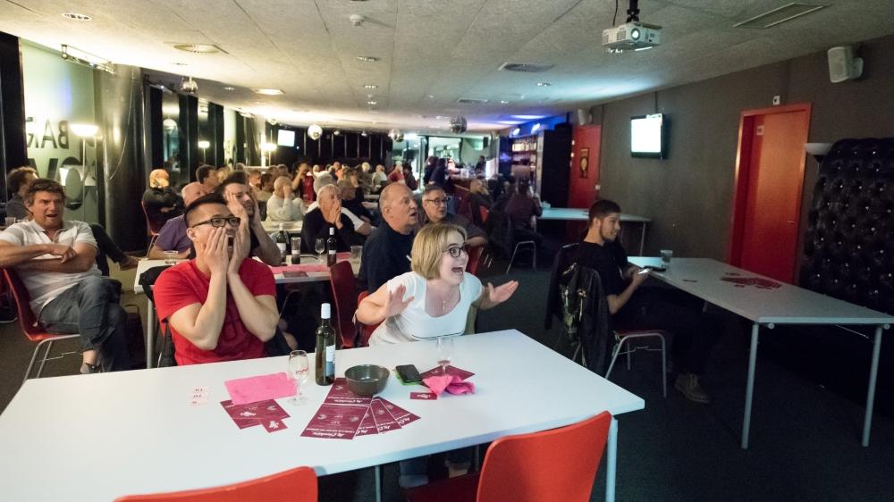 Au Lobby bar de la Maladière, on a longtemps attendu ce fameux but synonyme de 23e victoire. En vain...