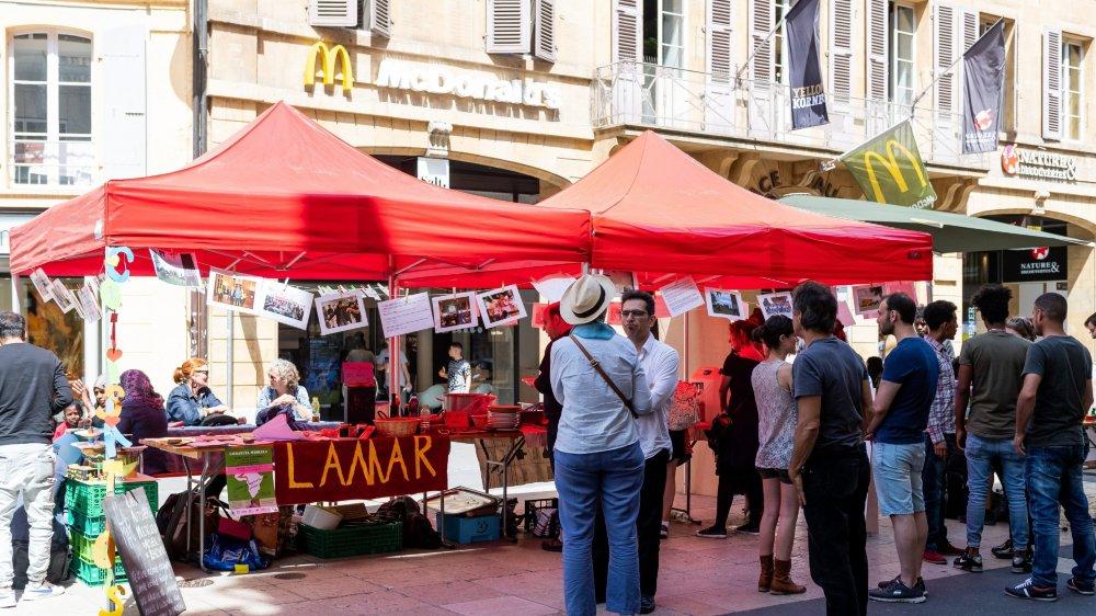 Le stand de L'Amar mettait en évidence toutes les actions que propose l'association.