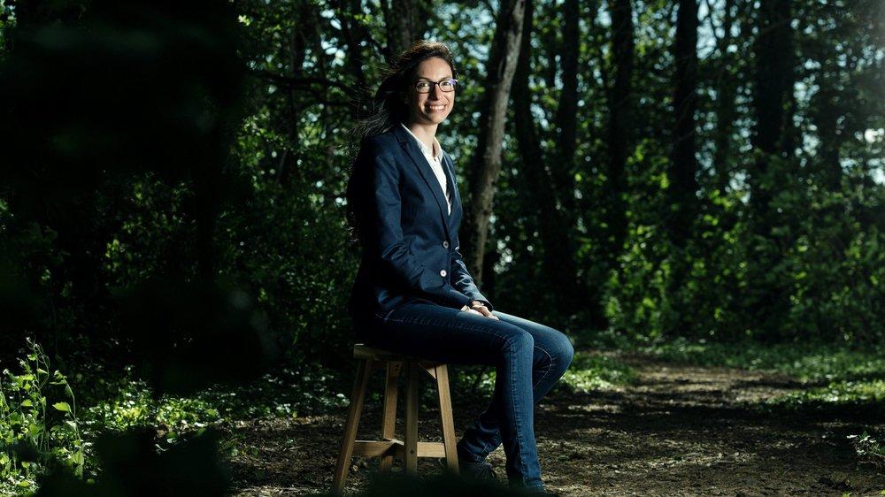 Céline Vara, présidente des Verts neuchâtelois et candidate a la vice-présidence suisse. Photo © David Marchon
