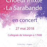Concert du Choeur mixte La Sarabande de Coffrane