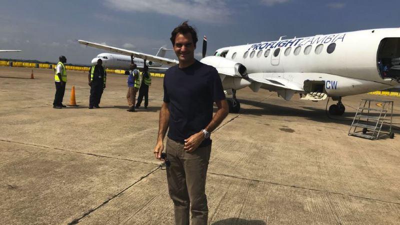 Tennis: loin de la terre battue, Roger Federer se consacre à sa Fondation en Zambie