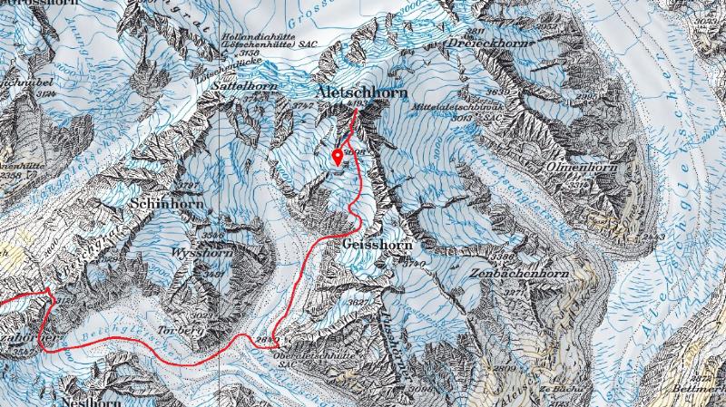 Aletschhorn (VS): un guide de montagne perd la vie après avoir chuté dans une crevasse