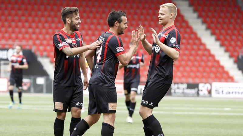 Max Veloso, Raphaël Nuzzolo et Gaëtan Karlen peuvent se féliciter: les rouge et noir ont livré une  nouvelle prestation aboutie face au Sporting CP et l'ont même emporté.