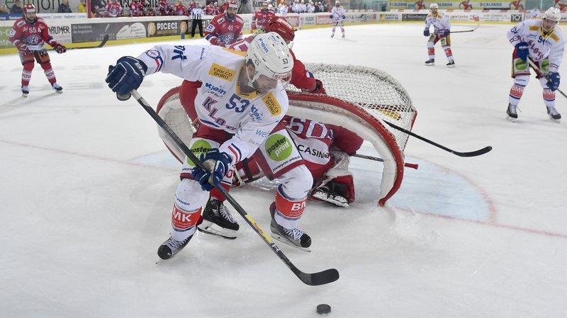 Hockey sur glace: Kloten revient 2 à 2 dans la série en s'imposant 4 à 0 face à Rapperswil