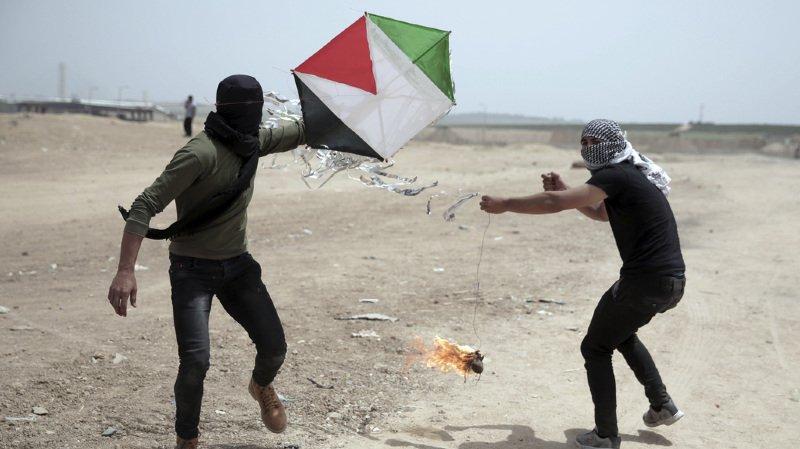 Bande de Gaza: le cerf-volant comme arme de la contestation palestinienne