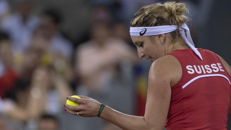 La Vaudoise (WTA 46), toujours en délicatesse avec son poignet droit, n'a pas démérité samedi après-midi contre Irina-Camelia Begu (WTA 38). Mais elle a fini par s'incliner.