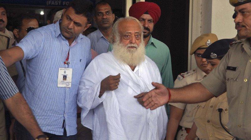 Asaram Bapu était accusé d'agression sexuelle sur une fille de 16 ans en 2013 au Rajasthan.