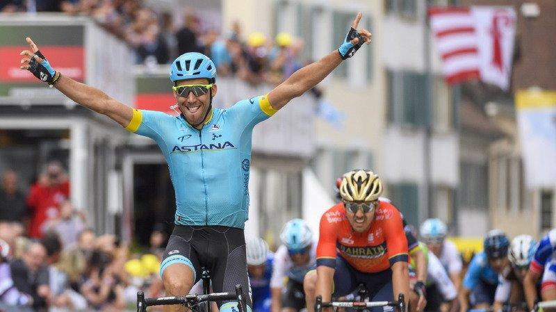 Tour de Romandie: l'Espagnol Omar Fraile s'impose au sprint à Delémont, le maillot jaune Matthews détrôné par Roglic