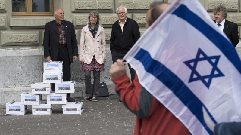 """L'UDF attend un changement de paradigme du Conseil fédéral et du Parlement. La pétition demande """"une reconnaissance du fait que Jérusalem appartient historiquement au peuple juif""""."""