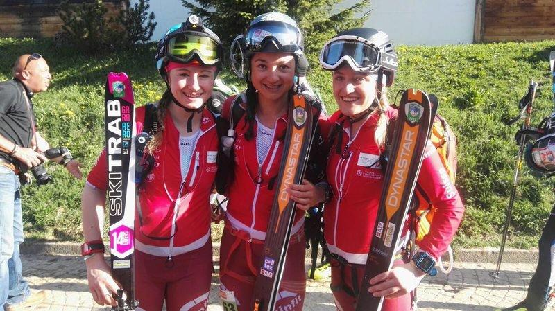 L'équipe de Marianne Fatton et Florence Buchs arrive première de la petite Patrouille des glaciers