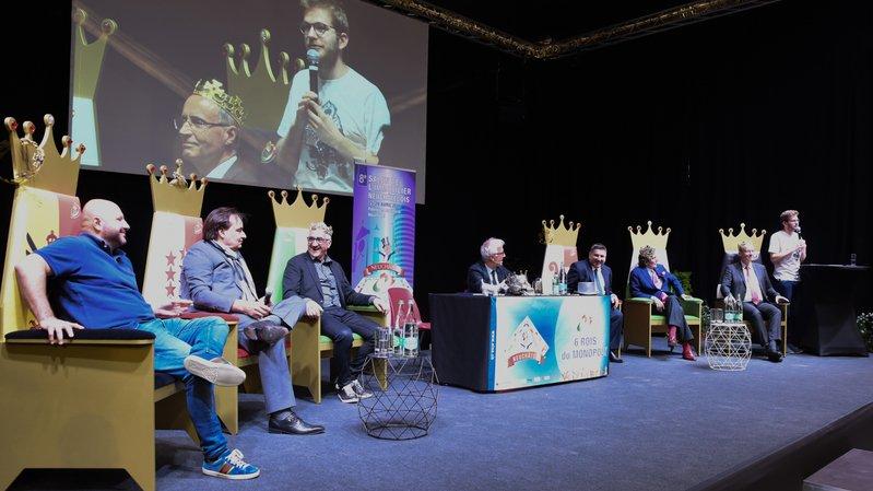 Les rois de l'Immobilier sur la scène du Salon de l'Immobilier.