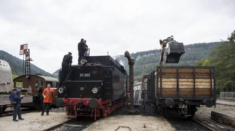 Les motrices à vapeur du VVT quitteront le dépôt de Saint-Sulpice ce samedi.