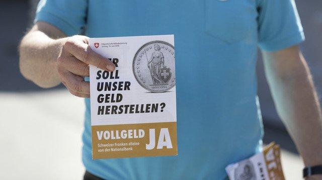 Le peuple suisse se prononce le 10 juin sur l'initiative Monnaie pleine.