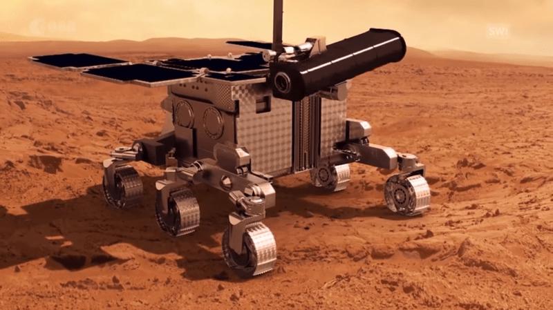 La caméra CaSSIS doit contribuer à la recherche de traces de vie sur Mars jusqu'en 2022 (illustration).