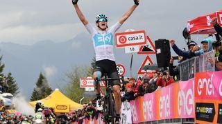 Cyclisme - Giro: Chris Frooome s'impose au sommet du Zoncolan lors du la 14e étape du Tour d'Italie