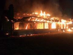 La buvette du FC Dombresson en feu