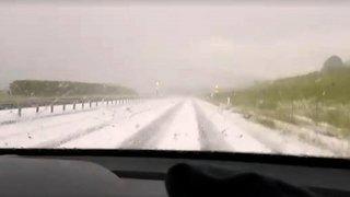 Violent orage de grêle à Delémont