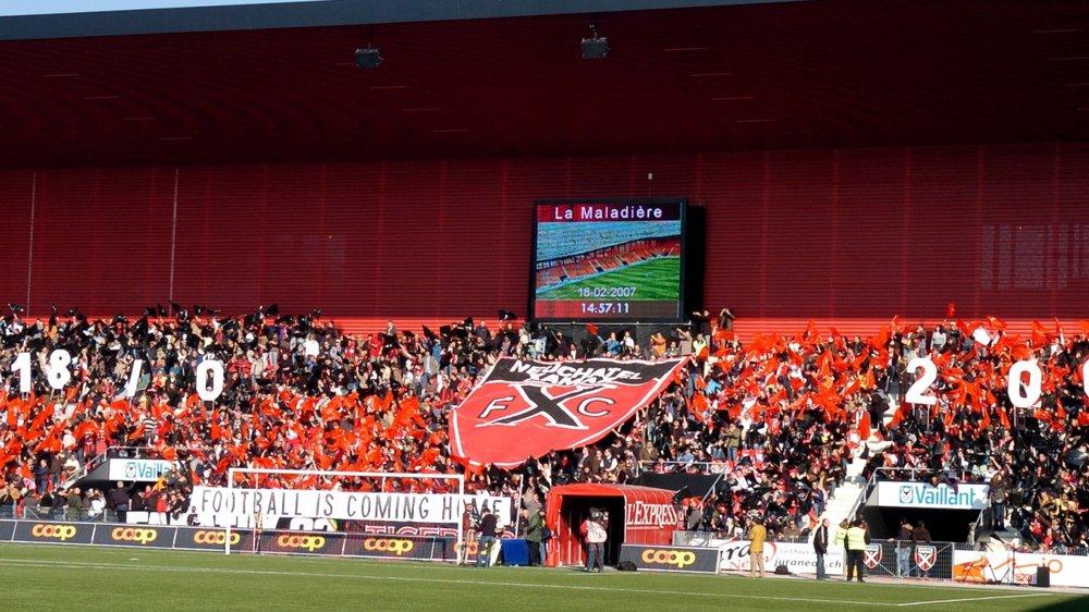Le 18 février 2007, la nouvelle Maladière est inaugurée. Dans un stade à guichets fermés (11 997 spectateurs) Neuchâtel Xamax affrontele FC La Chaux-de-Fonds et s'impose 3-2.