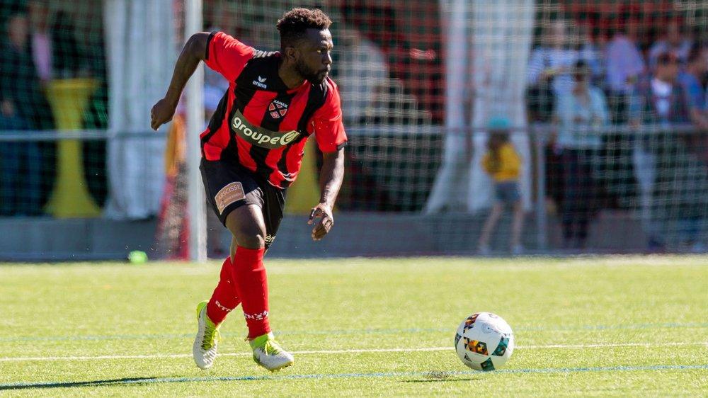 """Hamed Koné a inscrit son premier but en """"rouge et noir"""" et offert la victoire à Neuchâtel Xamax face à Thoune."""
