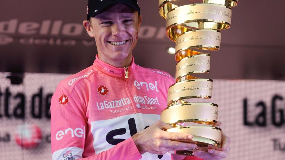 Chris Froome est le premier cycliste britannique à remporter le Giro.