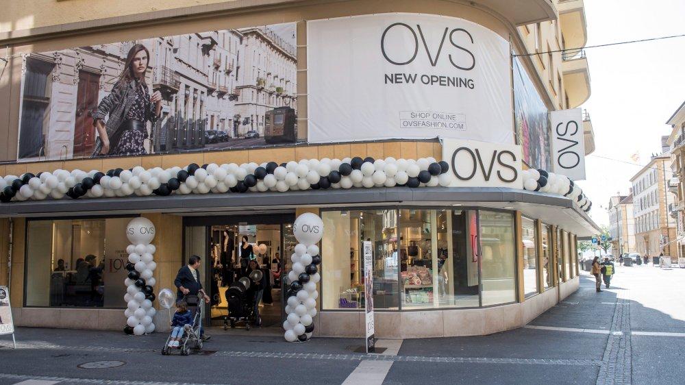 Inauguration du magasin OVS de Neuchâtel qui avait remplacé l'enseigne Charles Vögele à la mi-septembre2017.