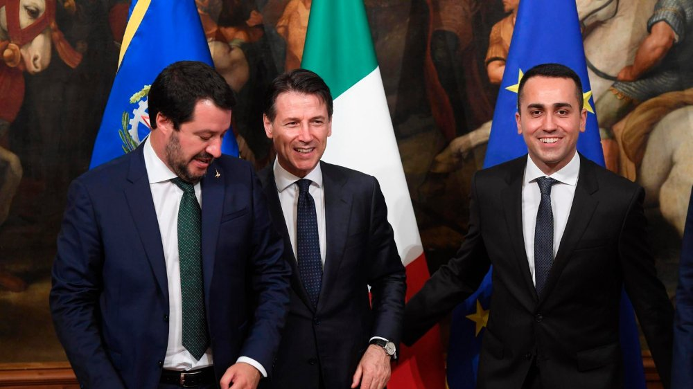 Matteo Salvini (à gauche), Giuseppe Conte et Luigi Di Maio (à droite): le nouveau trio de choc à la tête de l'Italie.