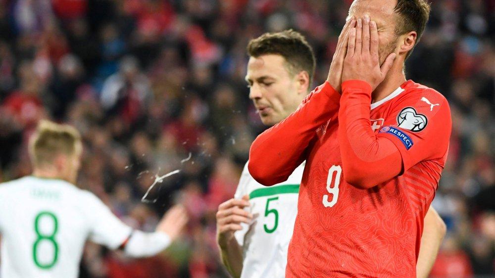 Buteur à onze reprises sous le maillot suisse, Haris Seferovic n'a jamais trouvé le chemin des filets face à une grande nation.