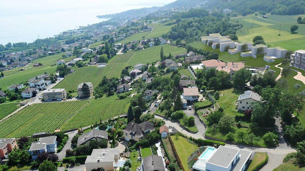 Le projet de nouveau quartier prévoit la construction de 49 unités d'habitation aux Chauderons sur les hauts de Saint-Blaise.