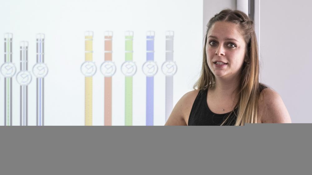 Audrey Brossard, conceptrice de la montre de la fondation Théodora.